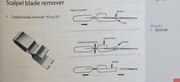 Scalpel blade remover