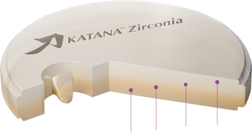 Disc zirconiu Katana HT 14mm