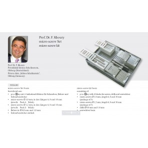 Micro-screw set, Set complet microsuruburi by Prof. Dr. Khoury