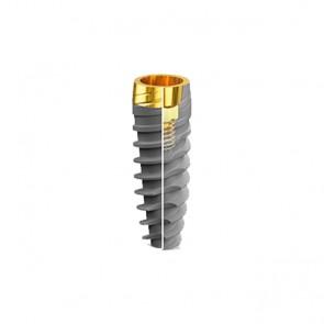 Implant JD Icon Plus 5,0 x 10 mm guler anodizat 1,5 mm titan grad 4